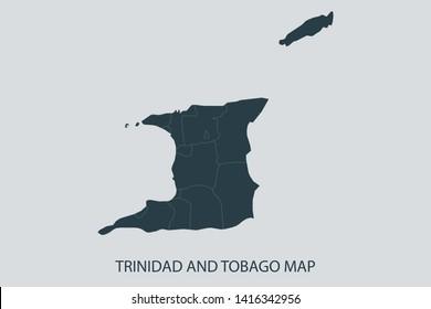Trinidad and Tobago Map Images, Stock Photos & Vectors ...