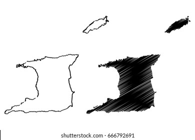 Trinidad and Tobago Map Images, Stock Photos & Vectors | Shutterstock