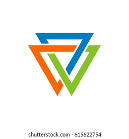 Trinity Infinity Triangle Logo Template Illustration Design. Vector EPS 10.