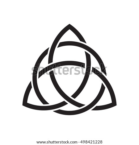 Trinity Knot Triquetra Ancient Celtic Symbol Stock Vector Royalty