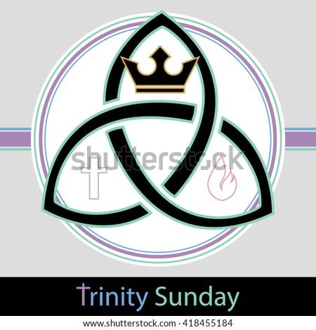 Trinity Sunday Christian Holiday Symbol Depicting Stock Vector