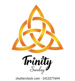 Trinity Sunday is the first Sunday after Pentecost in the Western Christian liturgical calendar, and the Pentecost or Troitsa in Eastern Christianity. - Vector