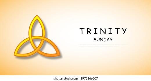 Trinity Sunday with religious trinity symbol vector illustration.