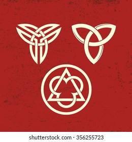 Trinity symbols. Christian.