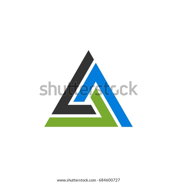 Trinity Triangle Logo Template Illustration Design Stock