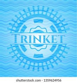 Trinket water concept emblem.
