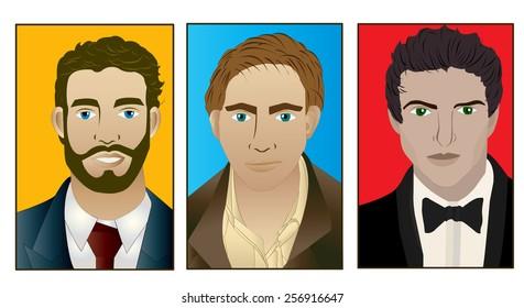 Trio of men.