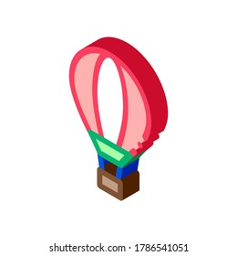 Trip Air Balloon Icon Vector. Isometric Trip Air Balloon sign. color isolated symbol illustration