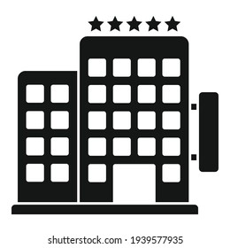 Trip hotel icon. Simple illustration of trip hotel vector icon for web design isolated on white background