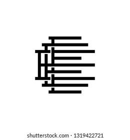 triple e monogram eee letter hipster lettermark logo for branding or t shirt design