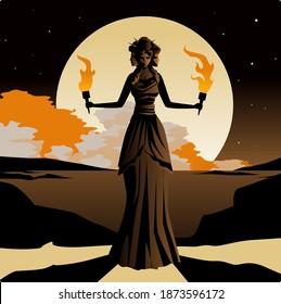 triple headed greek mythology goddess hecate