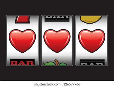 Triple hearts Valentine slot machine