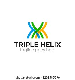 Triple Helix Modern Logo for Medical Research Company