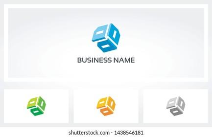 Triple Letter D Alphabet Cube Logo