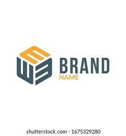 Triple letter e in hexagonal box shape.  business logo