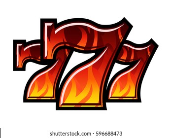 Triple Lucky Blazing Sevens vector illustration