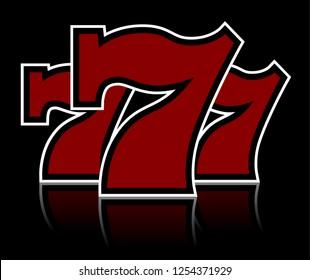 Triple Lucky Sevens vector illustration