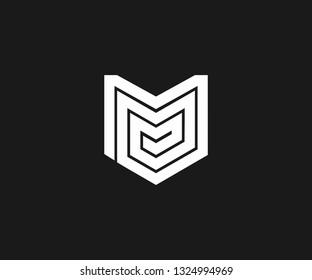 Triple M logo with monogram concept