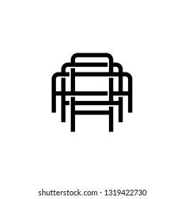 triple a monogram aaa letter hipster lettermark logo for branding or t shirt design