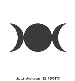Triple moon symbol vector image
