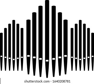 Triple pipe organ music instrument organist icon