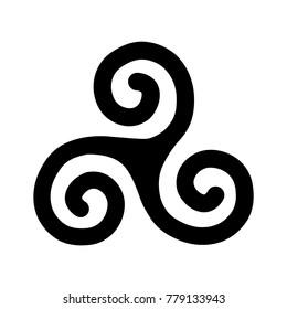 Triple Spiral, ancient Celtic symbol