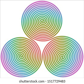 Triple Spiral Symbol icon illustration with a white background
