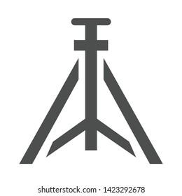 tripod icon. flat illustration of tripod vector icon for web