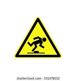 Tripping danger sign