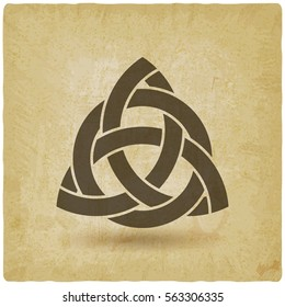 triquetra in circle old background. vector illustration - eps 10