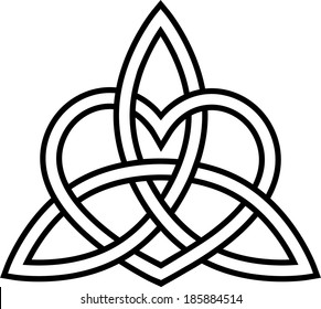 Triquetra Heart - Paganism - Celtic Endless Knot
