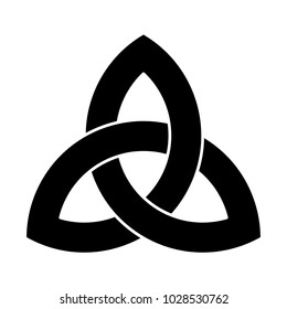 Triquetra ornament with editable fill and stroke colors