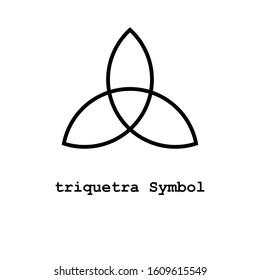 triquetra Symbol , illustrator vector icon