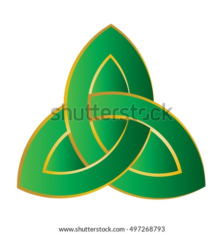 Triquetra Trinity Knot Celtic Knot Style Stock Vector Royalty Free
