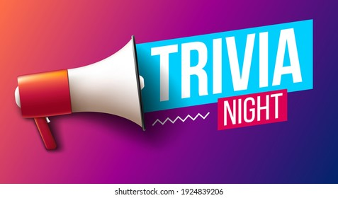 """""""Trivia night"""" banner with megaphone"""