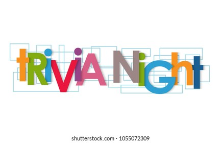 Trivia night vector letters
