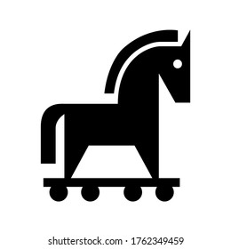 trojan horse icon or logo isolated sign symbol vector illustration - high quality black style vector icons