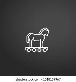 Trojan Horse linear vector icon. Modern outline Trojan Horse logo concept on grey background from Ancient Greece collection. Suitable for use on web apps, mobile apps and print media.