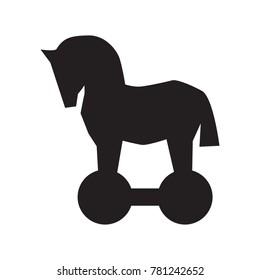 Trojan horse vector icon. Security vector illustration. Computer virus symbol