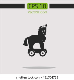 Trojan horse.vector icon