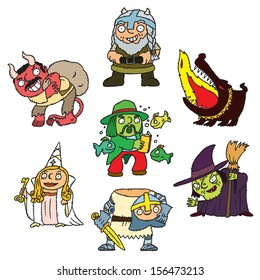 Troll, devil, white lady, headless knight, witch, fire dog, water sprite in one picture.