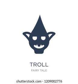 Troll icon. Trendy flat vector Troll icon on white background from Fairy Tale collection, vector illustration can be use for web and mobile, eps10
