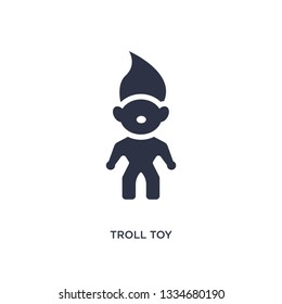 troll toy icon. Simple element illustration from toys concept. troll toy editable symbol design on white background. Can be use for web and mobile.