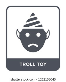 troll toy icon vector on white background, troll toy trendy filled icons from Toys collection, troll toy simple element illustration