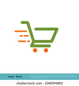 Trolley Cart Icon Vector Logo Template