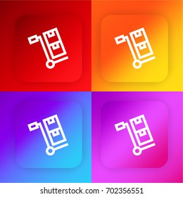 Trolley four color gradient app icon set