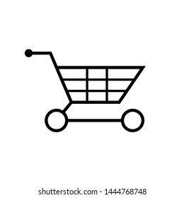 Trolley Icon. Shopping Cart in Simple Vector Sign & Trendy Symbol for Design, E-Commerce Websites, Presentation or Mobile Application.
