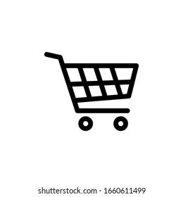 Trolley Icon Vector Illustration Logo Template