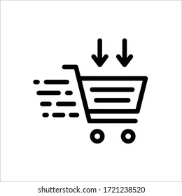Trolley vector icon. Trolley flat sign design. Shopping symbol pictogram
