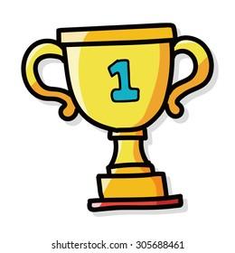 Trophy color doodle